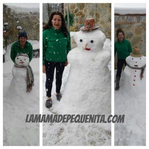 muñecos de nieve montaña palentina