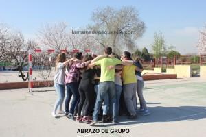 abrazo de grupo