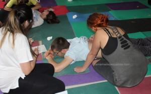 taller de pintura corporal bebés