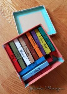 juegos pinzas colores niños
