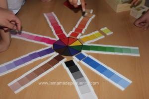 caja de color Montessori