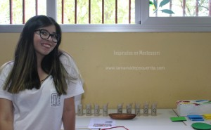 caja de husos Montessori