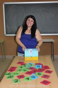 letras y números de lija Montessori