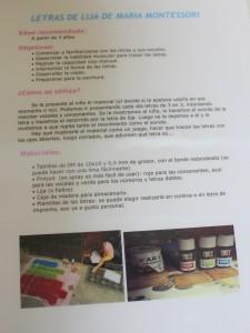 letras de lija Montessori