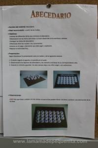 alfabeto de tapones de leche Montessori