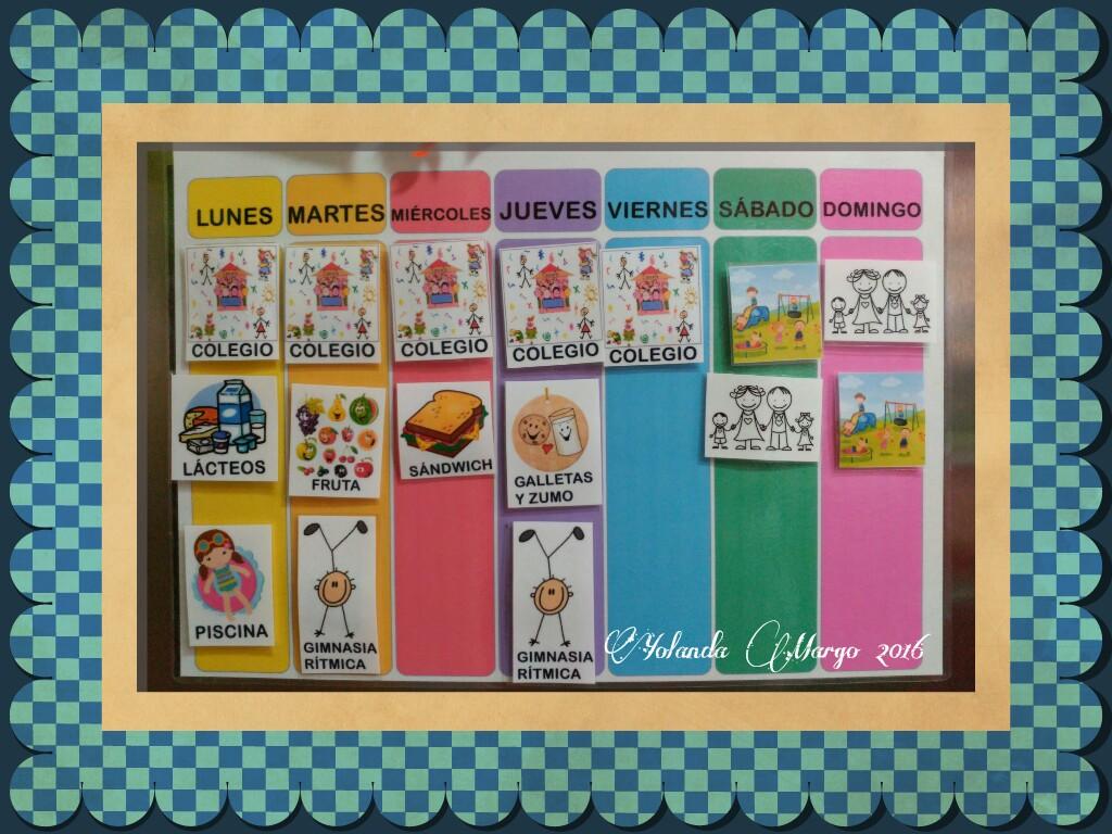 Calendario Montessori.Un Calendario Para La Semana La Mama De Pequenita