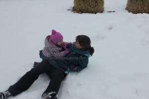 nieve en la montaña palentina