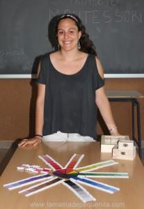 Inspirada en la Cajas de color de Montessori
