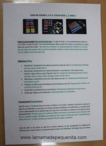 Cajas de color Montessori Box Color