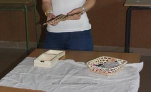 tablillas rugosas tactiles de lija Montessori