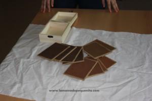 tablillas táctiles rugosas de lija Montessori