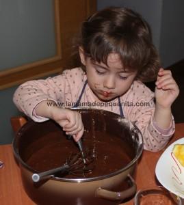 magdalenas de chocolate caseras para niños
