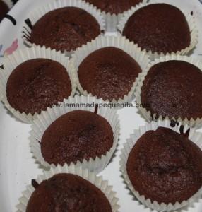 magdalenas caseras de chocolate