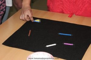 escalera de perlas montessori bead stair