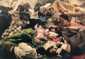 El colecho de los niños y las niñas Sirias. Alberto Di Lolli. Budapest, Hungría, Septiembre 2015.