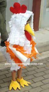 disfraces DYI gallina para niños