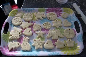 figuras de pasta de sal navideñas