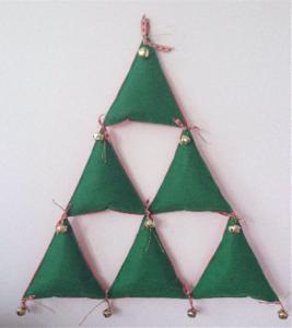 arbol de navidad de fieltro