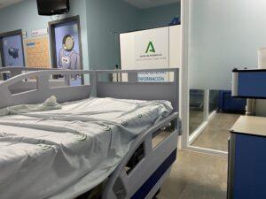 Cama de un hospital